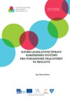 Návrh legislativní ůpravy karierního systému pro pracovníky ve školství